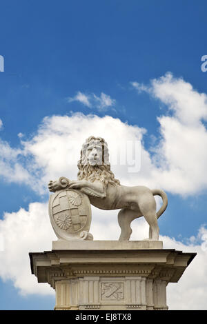 Lion sculpture, Nordkirchen Palace, Germany - Stock Photo
