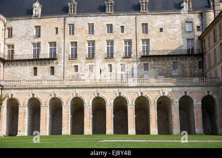 Chateau at La Roche Guyon, Val d'Oise, France, Europe - Stock Photo