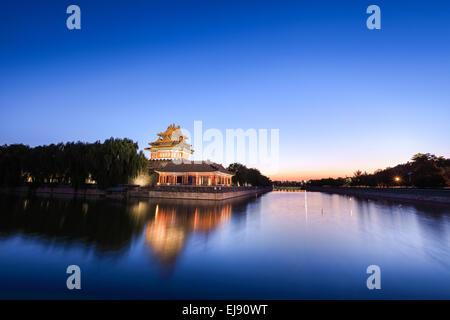 the turret of beijing forbidden city - Stock Photo