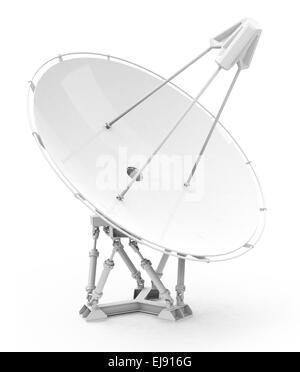 the white satellite telescope - Stock Photo
