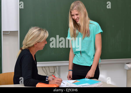 Laugh teacher and student - Stock Photo