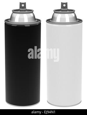 the spray cans - Stock Photo