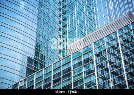 modern glass skyscraper background - Stock Photo