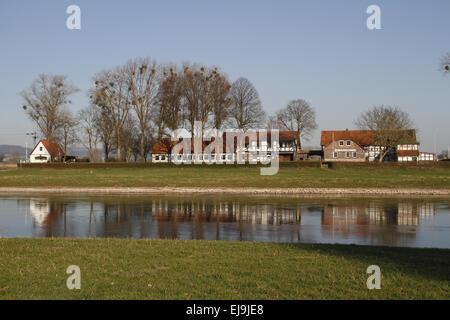 Grohnder Fährhaus, Weser Hills - Stock Photo