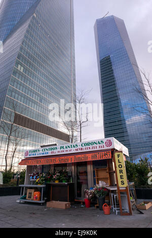 flower shop near the torre espacio torre de cristal in cuatro torres business area