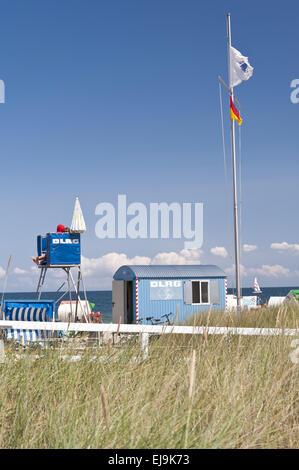 Life saving Guard at the Baltic Sea - Stock Photo