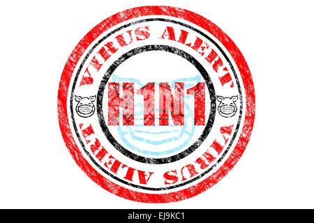 H1N1 Virus Alert Concept - Stock Photo
