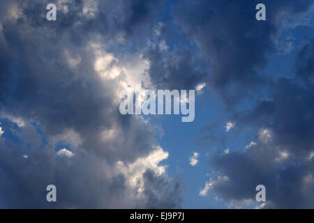Cloudy sky. Dramatic evening cloudscape - Stock Photo