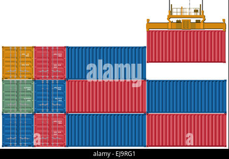 Upload and send container - Stock Photo