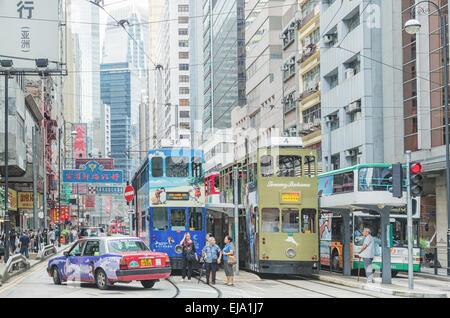 Hong Kong Sheung Wan street - Stock Photo