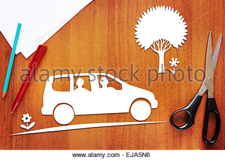 Concept of driving in the car - Stock Photo
