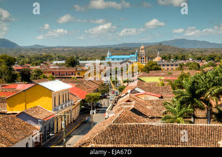 View over the historical center of Granada, Nicaragua - Stock Photo