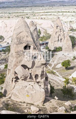 Turkey Cappadocia Rock Dwellings - Stock Photo