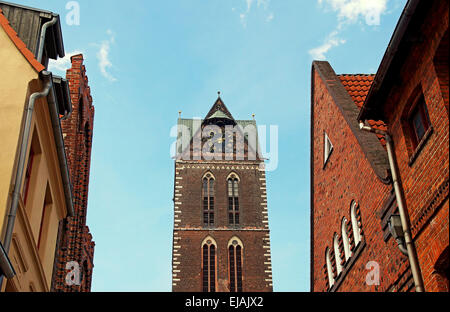 Church of St. Mary Wismar Germany - Stock Photo