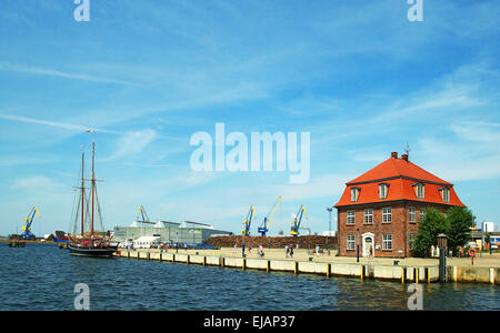 Port Hanseatic City Wismar Germany - Stock Photo