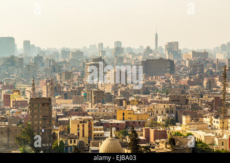 Aerial view of Cairo - Stock Photo