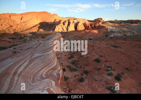 Fire Wave Vally of Fire Nevada - Stock Photo