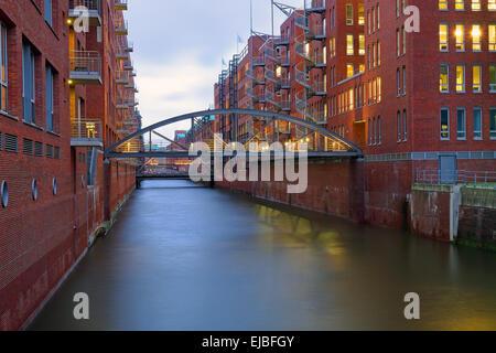The Speicherstadt in Hamburg - Stock Photo