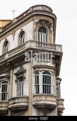 the balcony of old building - Stock Photo