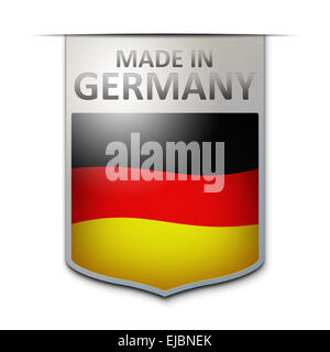 made in germany badge - Stock Photo