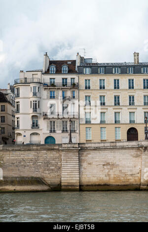 Apartment buildings along the river seine on the ile saint louis stock photo royalty free image for All paris apartments