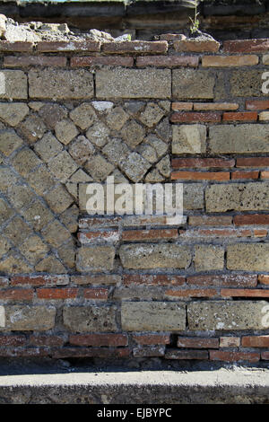 Opus Reticulatum Pompeii - Stock Photo