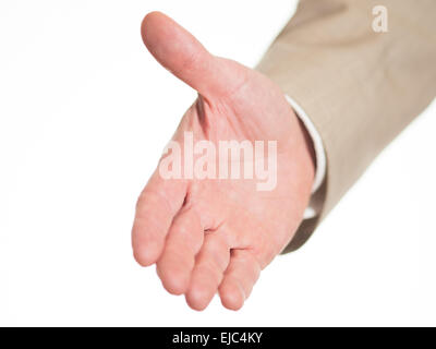 Outstretched hand to welcome - Stock Photo