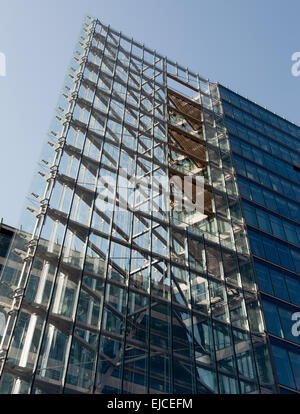 modern high-rise building in Berlin - Stock Photo