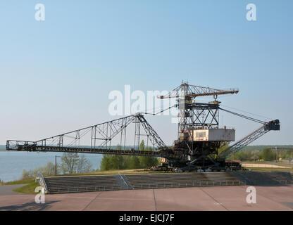 gigantic excavator in Ferropolis - Stock Photo