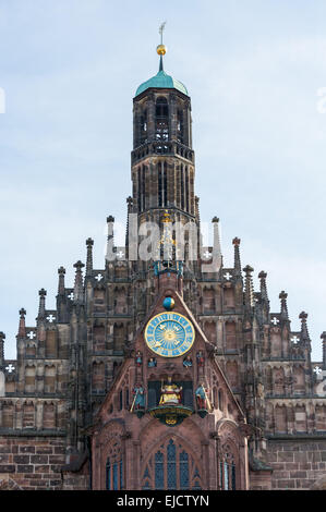 Church of our lady Nuremberg - Stock Photo