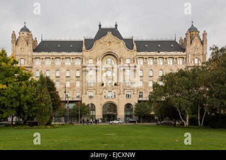 Facade of Four Seasons Hotel Budapest - Stock Photo