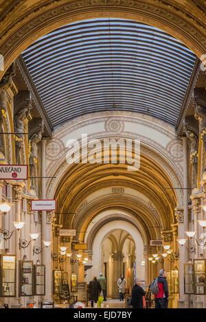 Vienna, Freyung, Palais Ferstel, shopping passage, Austria - Stock Photo