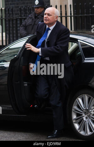 London, UK. 24th March, 2015. Members of the Cabinet gather at Downing street for their weekly meeting. PICTURED: Iain Duncan-Smith, Secretary of State for Work and Pensions Credit:  Paul Davey/Alamy Live News