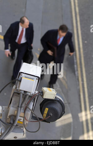 Closed-circuit television CCTV, video surveillance in Central London - Stock Photo