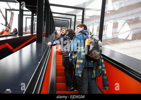 Zeche Zollverein, Entrance,  Essen, Nordrhine Westphalia, Germany, Europe - Stock Photo