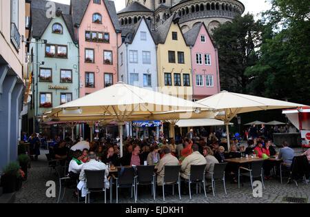 Martinsviertel,  Cologne old town, Northrhine Westphalia, Germany, Europe - Stock Photo