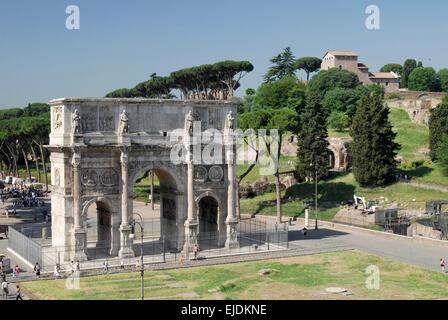 Arch of Constantine, Rome.  Arco di Constantino - Stock Photo