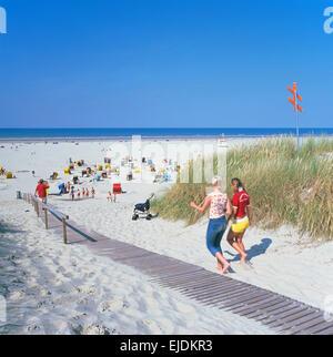 beach on Juist Island, East Friesland, Northern Germany - Stock Photo
