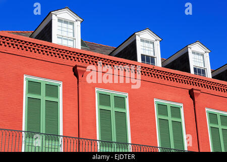 Conti Street, French Quarter, New Orleans, Louisiana, USA - Stock Photo