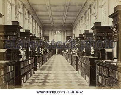 Circa 1870 Albumen Print of the Wren Library Trinity College Cambridge University Vintage Archival Print Education, - Stock Photo