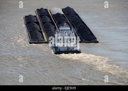 tug pushing barge mississippi river new orleans louisiana stock photo royalty free image. Black Bedroom Furniture Sets. Home Design Ideas