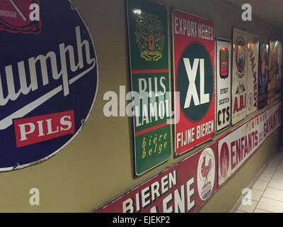Brussels, Belgium, Delirium cafe, - Stock Photo