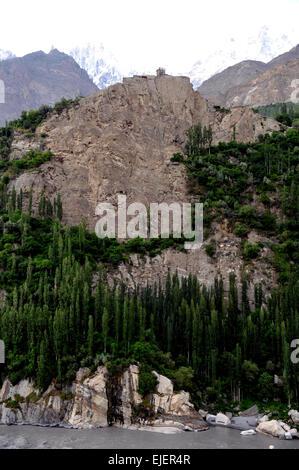 Altit Fort, Hunza valley, Himalayas, Pakistan - Stock Photo