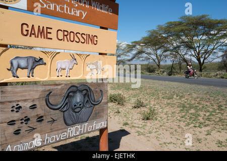 Wildlife sign. Lake Naivasha. Rift valley. Kenya. - Stock Photo