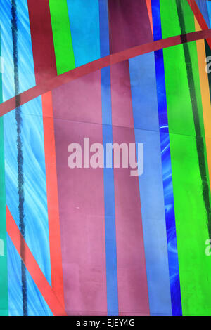 Detail On A Coloured Glass Panels On The Approaches To Liverpool's Metropolitan Cathedral - Stock Photo