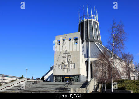 The Liverpool Metropolitan Cathedral of Christ the King, Merseyside, UK - Stock Photo