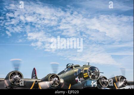 Texas Raider B-17 Flying Fortress WWII warbird. - Stock Photo