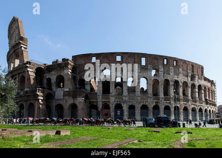 Colosseum in Rom, Italy - Stock Photo