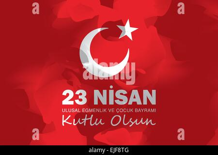 April 23 National Sovereignty and Children's Day - Stock Photo