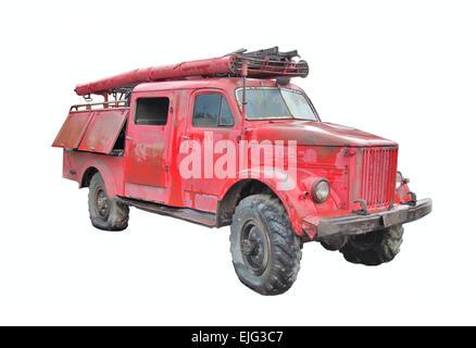 ... Fire Truck Retro   Stock Photo
